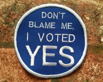 YES Scotland circular independence activist embroidered patch Scottish National Pride Scotsman Scotsmen freedom