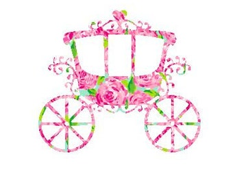 Princess Carriage SVG, Studio 3, DXF, ps, eps and pdf Cutting Files for Electronic Cutting Machines