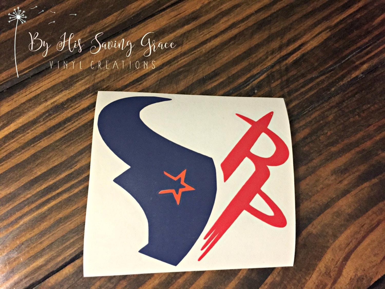 Houston Texans Astros Amp Rockets Vinyl Decal Yeti Decal Car
