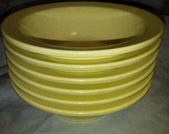 Lot of Four (4) 1950's Vintage Yellow Boonton Melmac/Melamine Bowls