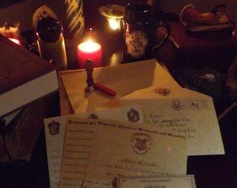Hogwarts Acceptance Letter with Bonus Hogwarts Pendant!