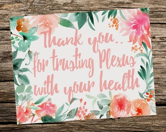 Trust Plexus Thank You Card