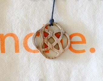 Celtic motif pendant wooden mimosa
