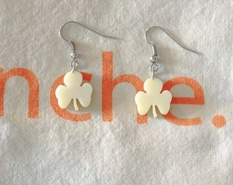 Earrings bone Shamrock - The pair