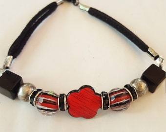 Black Suede bracelet