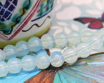 Opalite Round Beads Choose 4, 6, 8 or 10 mm / Glowy Moonstone Tones Opalite Beads / Sea Opal Beads Opalite round Beads Opalite Moonstone