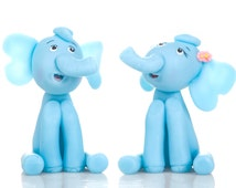 Cake Topper Wedding  Elephant