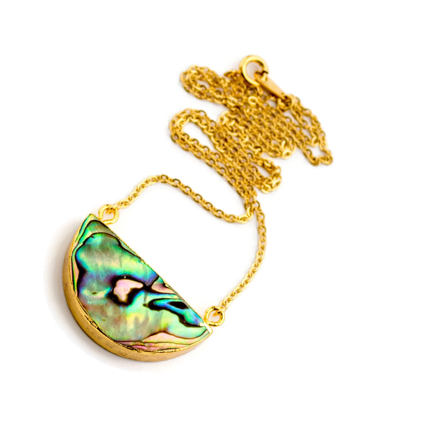 abalone necklace abalone shell necklace paua shell necklace