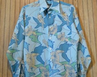 vintage Media Quintessa polyester swallow shirt