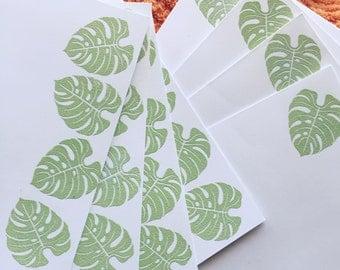 Stationary Set of 4 - Green Leaf