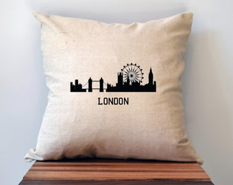 London Skyline- 18 x 18 Pillow Cover