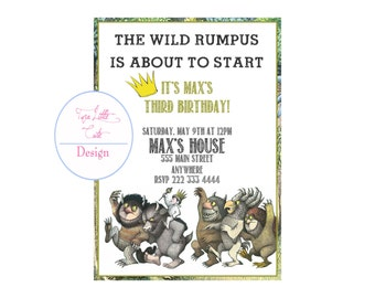 Where the Wild Things Are Invitation