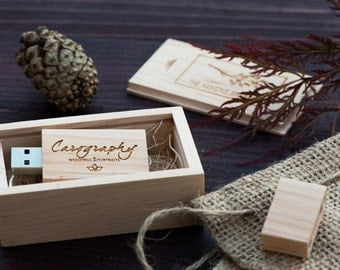 1 Maple Wood USB & USB Box