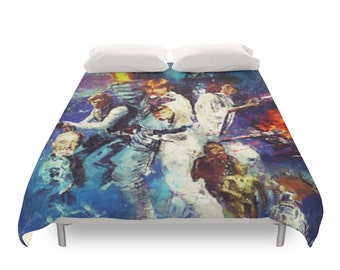 Star Wars Duvet Cover, Original Trilogy, Geek Bedding, Movie Saga Print, Teens Gift Decor, Children Beds, Kids Bedroom, Twin Full Queen King