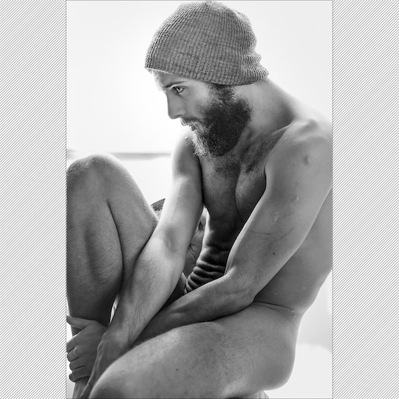 Bw Fine-Art Print Erotic Art Male Forms Slayton 19-4613