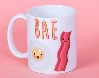 BAE bacon and egg mug - Funny mug - Rude mug - Mug cup 4P091