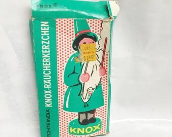 KNOX -R'A'UCHERKERZCHEN -  Original Incense for German incense smoker- VINTAGE