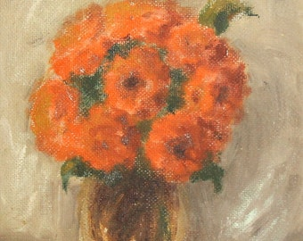 1978 Still life flowers oil painting signed
