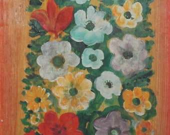 1976 Still life flowers oil painting signed