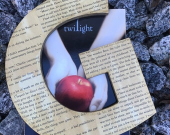 "Twilight, 8"", Aged, Book Page, Wall Letter - Custom Made"