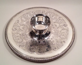 Vintage William Rogers Silver Tray w/Reed & Barton Bowl From The 1970's