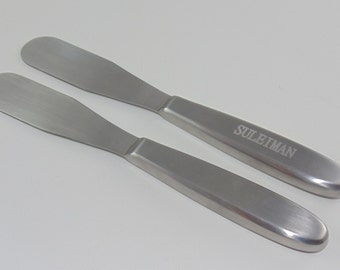 "Deluxe Spatula 8"" All Stainless Steel (engravable!!)"