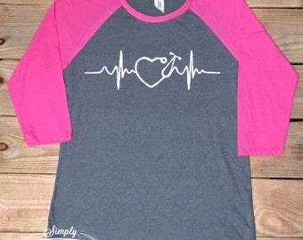 Nurse life, nurse, nurse shirt, gift idea, women's shirt, baseball shirt, raglan