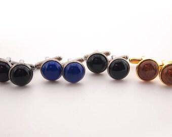 Cufflinks, Men's Cufflinks, Men's Black Cufflinks, Men's Antique Silver Cufflinks, Gemstone Cufflinks, Onyx Cufflinks, Blue Cufflinks, Gold