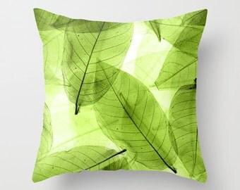 Nature Pillow Casing - Nature Bedding - Nature Duvet - Leaves Bedding - Green Bedding