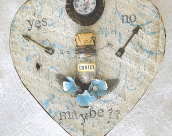 YES NO MAYBE – Salvaged Wood Heart