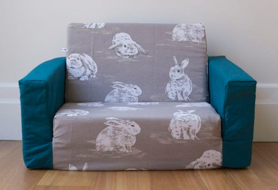 flip out sofa cover grey with large white by
