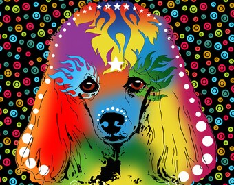 Poodle Art Poodle Pop Art dog pop Art Poodle Print Poodle Painting Poodle art print dog art dog wall art poodle poster print standard