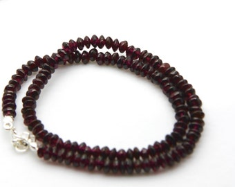 Garnet choker or double bracelet