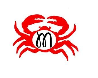 Crab Initial Decal