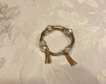 Gold and Pearl Antique Bracelet