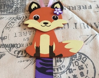Adorable Fox Hair Bow Holder/ hair bow holder/ hair clip holder/ girls bow holder