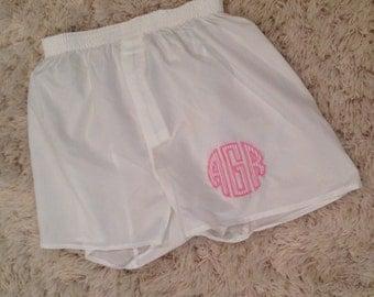 Custom Monogrammed Boxer Shorts