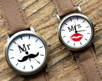 Mr. and Mrs. Lover Watch  |  FREE SHIPPING