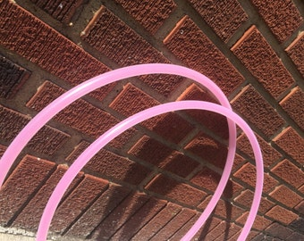 Colored Cable Ribbon Mini 5/8 polypro poi hula hoops (2 hoops)
