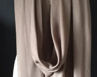 Taupe oversize Scarf & A Half