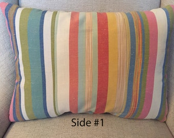 Lumbar Style Multi Color Stripe Pillow