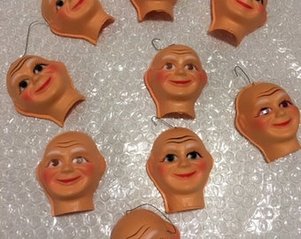 1960's Mr Clean Christmas Ornaments! Set of 9
