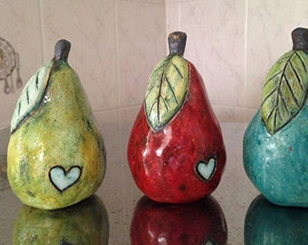Ceramic Pear 4 inches tall