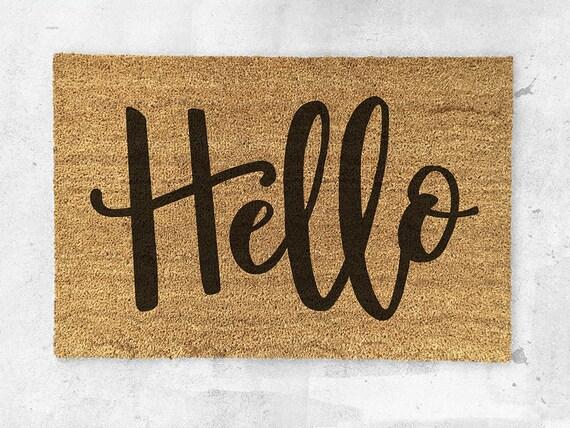 Like this item? & Hello Doormat Hand Painted Hello Door Mat pezcame.com