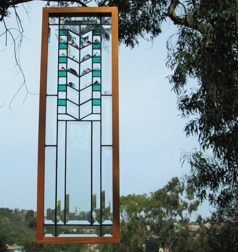Frank Lloyd Wright Inspired Stained Glass Tree Of Life