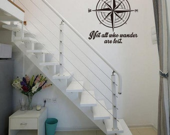 Personality compass decal, special wall decal