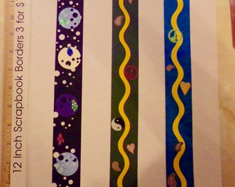 15 Scrapbook Borders for 3 dollars! Free Shipping!