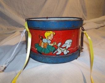 Antique toy drum