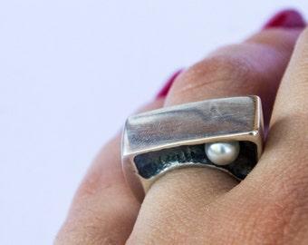 Hidden   Silver ring   Handmade   Lost wax