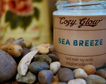 Sea Breeze Soy Candle 6.8 ounce Jar